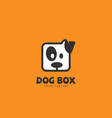 dog box logo vector image vector image
