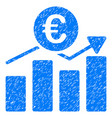 euro business chart grunge icon vector image vector image