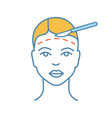facelift surgery color icon vector image vector image