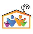 Family and house vector image