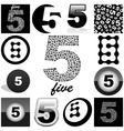 five vector image