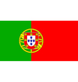flag of Portugal vector image vector image