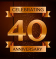 forty years anniversary celebration design vector image vector image