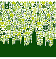 Green city eco icons background vector image vector image