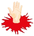 Hand of the person and puddle shelters vector image vector image