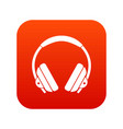 headphone icon digital red vector image vector image