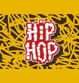 hip hop label lettering type design imag vector image vector image