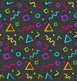 hipster seamless pattern with color shapes vector image