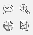 Internet icons set collection of positive