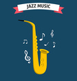 Jazz music icon vector image