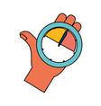 key performance indicator symbol vector image