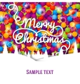Merry Christmas greeting card with swirl lettering vector image vector image