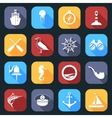 Nautical Icons Set Flat vector image vector image