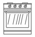 new oven icon outline style vector image vector image