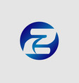 number 2 logo logotype design vector image vector image