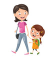 of kid with mother vector image