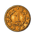 old gold coin vector image