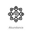 outline abundance icon isolated black simple line