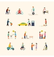 People in the city Flat icons vector image vector image