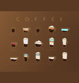 poster coffee flat brown vector image