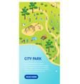 public park concept card poster banner vecrtical vector image vector image
