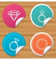 Rings icons Jewelry with diamond signs vector image vector image