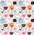 Seamless pattern with bags vector image vector image