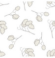 seamless pattern with hand drawn pastel lunaria vector image vector image