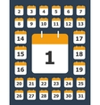 Set of calendar pages for every day vector image vector image