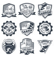 set of nine auto repair vector image vector image