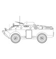 soviet armored reconnaissance vehicle vector image