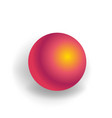 sphere - one 3d geometric shape with holographic vector image