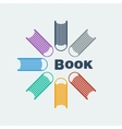 Symbol set of books vector image vector image