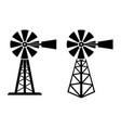 symbols of rural windpump vector image