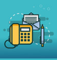 telephone email communication pen office vector image