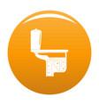 toilet equipment icon orange vector image