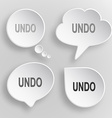 Undo White flat buttons on gray background vector image vector image