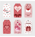 valentines day label templates for placing vector image vector image