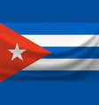 waving national flag of cuba vector image vector image