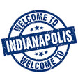 welcome to indianapolis blue stamp vector image vector image
