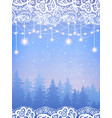 winter card for wedding christmas party vector image vector image