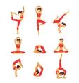 yoga Healthy lifestyle vector image vector image