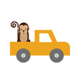 safari van of plato with monkey vector image