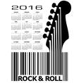 2016 Guitar UPC Calandar vector image vector image