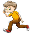 A young boy thinking vector image vector image