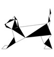 abstract low poly cat icon vector image