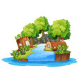 an isolated nature landscape vector image vector image