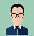 bald hair smart business man portrait vector image
