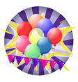Balloons inside the spinning wheel vector image