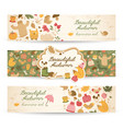 beautiful autumn horizontal banners vector image vector image